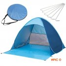 Outdoor Camping Waterproof Automatic single layer Tent 2-3 Person Outdoor Camping Hiking F