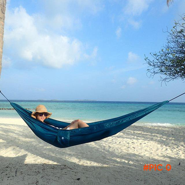 Outdoor travel  entertainment parachute cloth hammock camping   fishing air tent  BC627