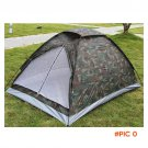 JHO-2 Person Camping Tent Single Layer Waterproof Outdoor Portable with Carry Bag Camouflage BC632