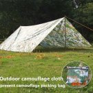 Outdoor camouflage cloth camping tent sun shelter Simple Tent windproof rainproof sunshade