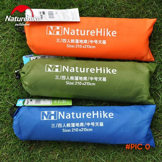 NatureHike 2.1*2.15M 3-4 Person Outdoor Picnic Camping Mat Beach Tent Awning BC3