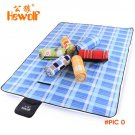 Hewolf polar fleece waterpoof aluminum film Picnic Mat Foldable Outdoor Camping mat Moistu