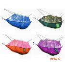 Sales Promotion Hammock Mosquito Net Double Hammock Stitching Color Lightweight Military C