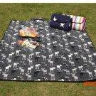 Easy to carry Free Shipping 170x130cm Outdoor Cashmere Camping Mat Foldable Beach Picnic C