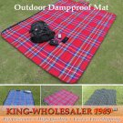 1PCS Portable Camping Mat Outdoor Waterproof Cashmere Picnic Mat Damp-proof Mat Beach Blan