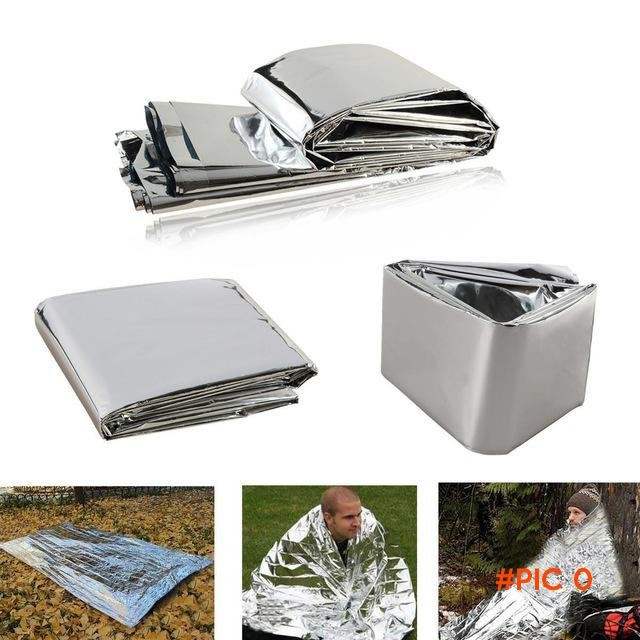 Outdoor WaterProof Emergency Survival Rescue Blanket Foil Thermal Space First Aid Sliver R