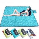 200*200cm outdoor spring cushion camping mats baby crawling mat printed suede beach mat wi