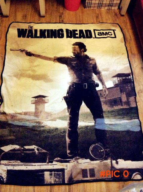 TV show The walking dead blanket coral fleece coral velvet carpet summer Rick Camping Mat