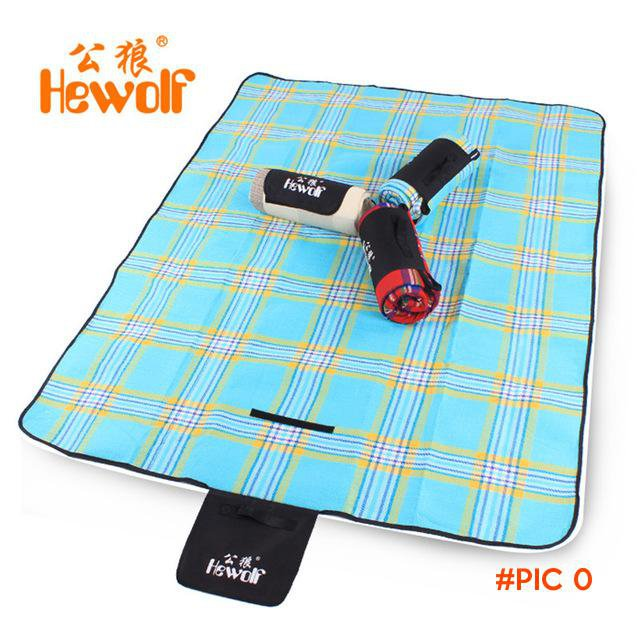 Hewolf Cashmere Picnic Mat waterproof Aluminum Film Tent Sleeping Pad Foldable Beach Campi