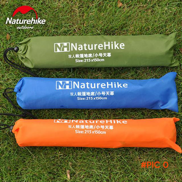 NatureHike 2016 Top Quality 2.15*1.5M Tent Mat New Design Silver Coated Tarp Tent/Gazebo/S