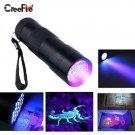 Mini Aluminum Portable UV Flashlight Violet Light 9 LED UV Torch Light Lamp Flashlight BC7