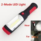 Portable mini LED Flashlight Work Light lamp with Magnet & Rotating Hanging Hook for O