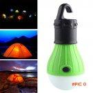 Portable 3LED Camping Tent Light Bulb Fishing Lantern Lamp Outdoor Hanging Soft Lighting L