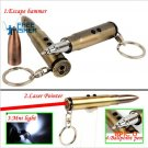 Freefisher 4 in 1 Multifunction Bullet Shaped Pen Survival EDC Laser+Light+Life-Saving Ham