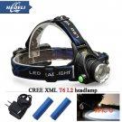 cree headlight led headlamp xm l t6 xm-l2 waterproof zoom head lamp 18650 rechargeable bat