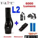 CREE XML-T6 L2 Flashlight 6000lm Adjustable Zoomable led Flashlight Lamp Light LED Tactica