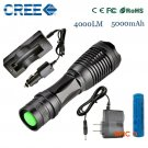ZK20 e17 CREE XM-L t6 4000 lumens led flashlight torch adjustable lights & lighting to