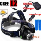 6000 Lumens Headlight T6 headlamp CREE XML-L2 zoomable LED Head Lamp Rechargeable led head