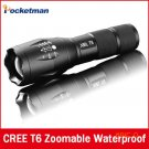 E17 CREE XM-L T6 2400Lumens cree led Torch Zoomable cree LED Flashlight Torch light For 3x