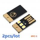 2pcs 2016 NEW Mini USB Power LED Light Pocket Card Lamp Portable Night Camp YKS BC107