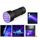 3AAA Aluminium Invisible Blacklight Ink Marker 21 LED UV Ultra Portable Flashlight Torch L
