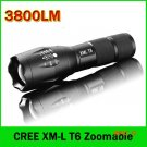 LED Flashlight 3800 Lumens Tactical Flashlight CREE XM-L T6 LED Torch Zoomable cree light