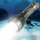 Top Quality Underwater CREE XM-L T6 2600LM 8-Mode LED Diving Flashlight Torch Brightness W
