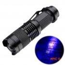 Zoomable CREE LED UV Flashlight Purple Violet Light 600LM Adjustable Focus 3 Modes Light L