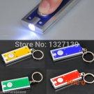 1pcs Mini Flash Light Torch LED Lamp Keyring keychain Hiking Camping 4Colors BC167