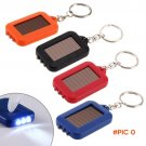 ABS 3 Leds Solar Panel Sun Power Energy Camping Light Portable Key Chain Hiking Rechargeab