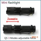 Professional LED Flashlight 2000lm Zoomable mini portable 3 Light Modes torch for Camping,