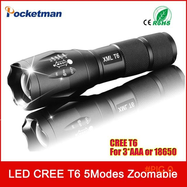 zk35 CREE 3800Lumens E17 XM-L T6 Cree Led Torch Zoomable Cree LED Flashlight Torch Light F