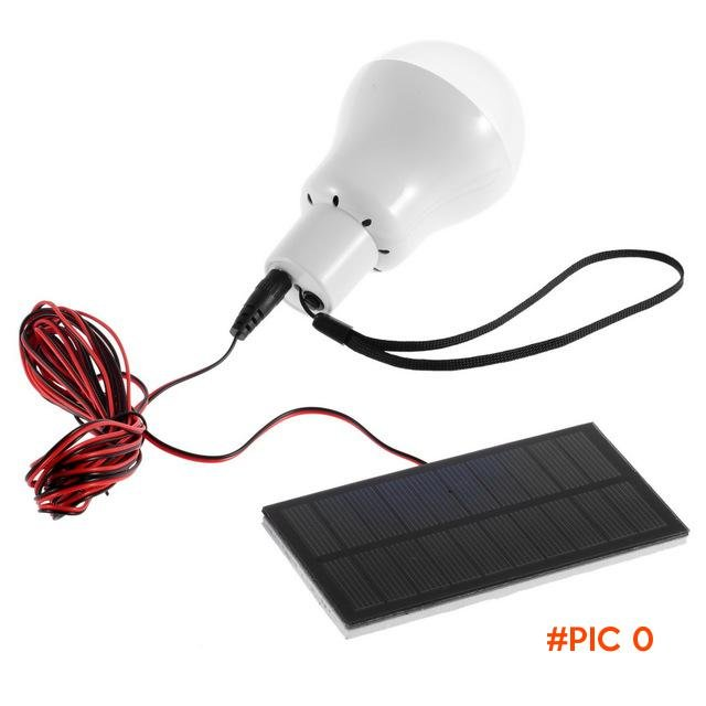 Outdoor/Indoor Solar Powered led Lighting System Light Lamp 1 Bulb solar panel Low-power c