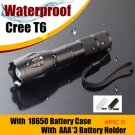 USA 3800 lumens E17 CREE XM-L T6 led flash light waterproof zoom led hand lamp for 3*AAA o