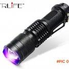 CREE LED UV Flashlight SK68 Purple Violet Light UV 395nm Lamp free shipping BC210