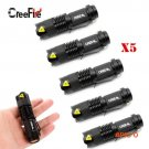 Wholesale 5 Pcs CREE Mini 3 Mode Waterproof LED Flashlight Portable Lights Zoomable Torch