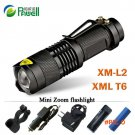 Zoom mini cree xml T6 l2 Led Flashlight Led Torch 5 mode 3800 Lumens waterproof 18650 Rech