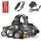 8000 Lumen 3T6 Boruit Head Light Headlamp Outdoor USB Head Lamp HeadLight Rechargeable + 2