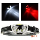 Portable 6 LED Water Resistant Head Lights 1200 Lumens 3 Modes Outdoor Camping Hiking Cycl