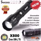 2016 NEW LED Flashlight 5000LM G700 Tactical LED Flashlight X800 Zoom Super Military Light