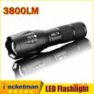 E17 CREE XM-L T6 flashlight Lanterna de 3800Lumens LED Light Zoomable Life Waterproof Flas