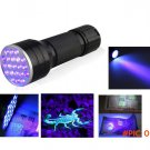 3AAA Aluminium Invisible Blacklight Ink Marker 21LED 21 LED UV Ultra Violet Flashlight Tor