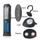USB Charging 36+5 LED Flashlight Work light Magnetic Lamp with HOOK for Mobile Power Charger BC304