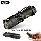 Mini  Zoomable  led T6 flashlight torch cree xm-l 2800 lumens waterproof rechargeable 1865