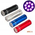 9 LED UV linternas lanterna light flash Torch Personalized Mini Ultra Violet Blacklight De