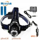 ZK40 Led Headlamp Cree T6 3800LM Flashlight Head Light Adjustable Fishing Light Rechargeab