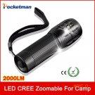 2000Lumens LED Flashlight Camping Hiking Fishing Hunting Cycling Highlighted 1 Pc Mini Tor