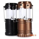 6 LED Hand Lamp Portable Led Light Solar Collapsible Camping Lantern Tent Lights Rechargea