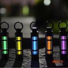 Free shipping Automatic light 25 years Titanium tritium keychain key ring fluorescent tube