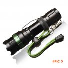 CREE Q5 / XM-L T6 1000lm / 2000Lumens LED Torch Zoomable Cree LED Flashlight Torch light F